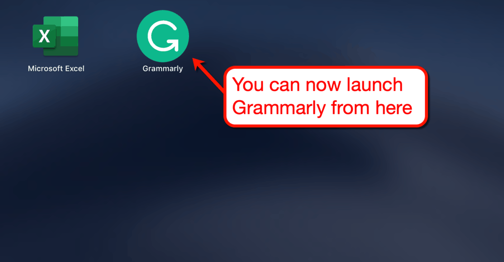 Grammarly on Mac Launch Pad