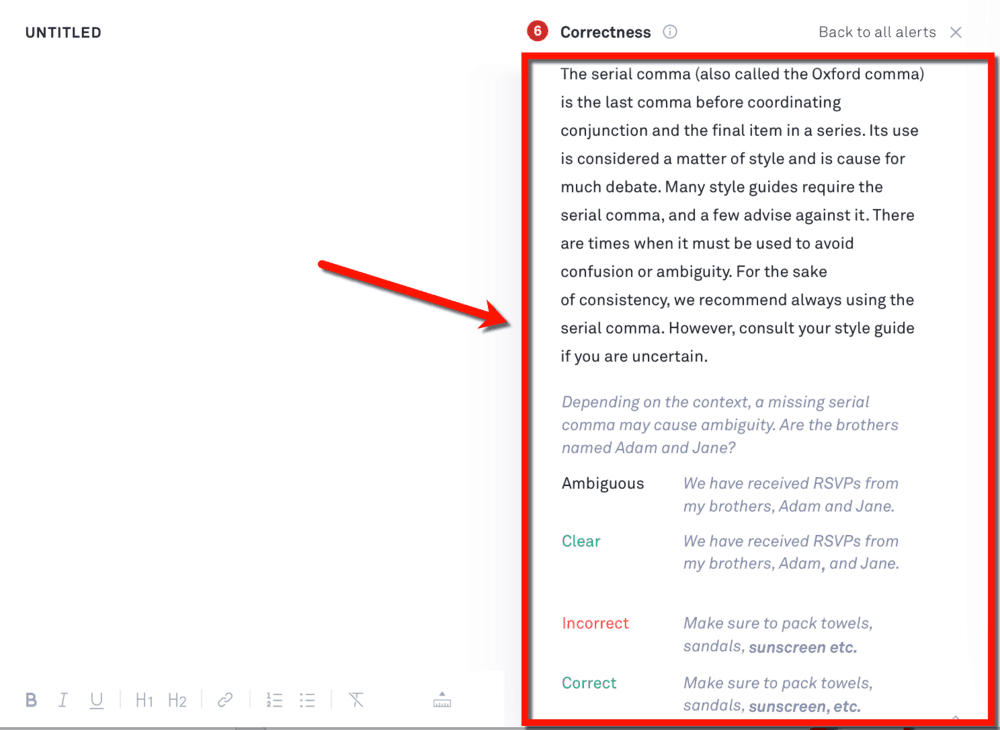 Grammarly Correction Explanation