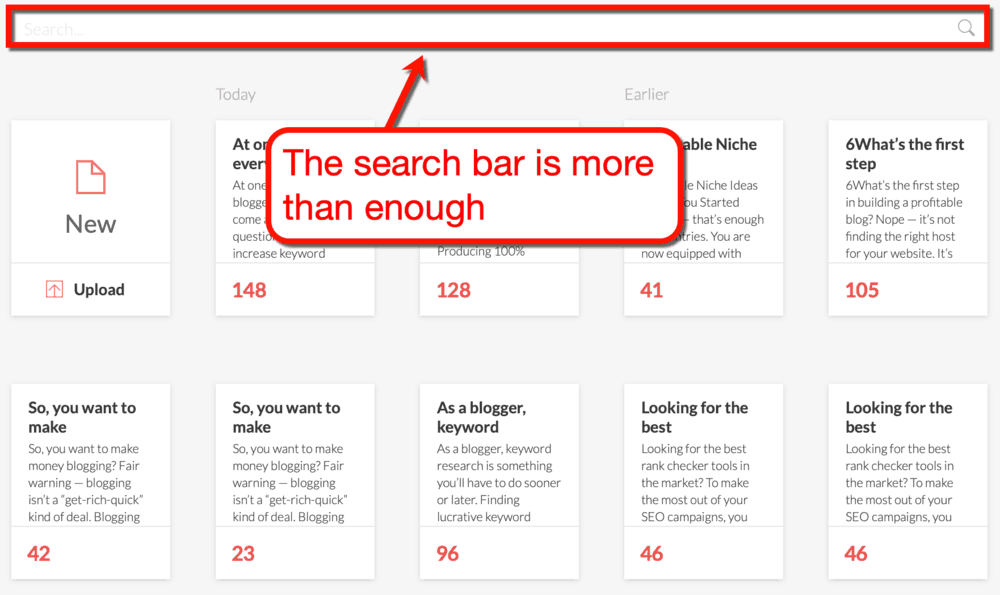 Grammarly Search Bar