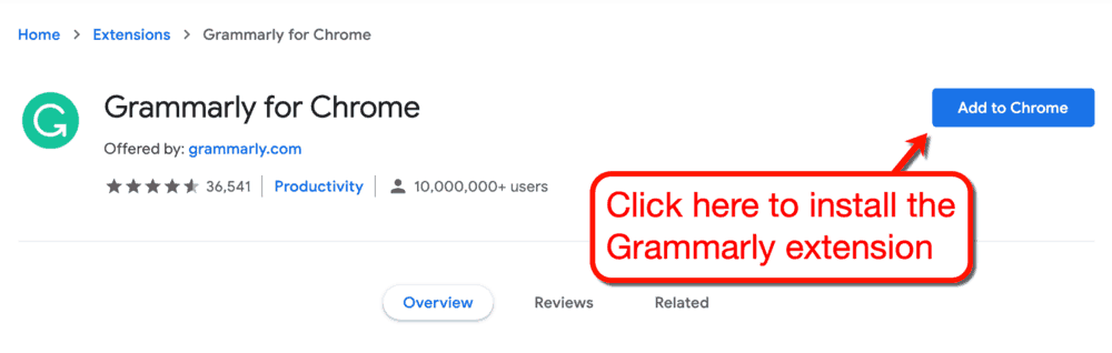 How to Install Grammarly on Chrome