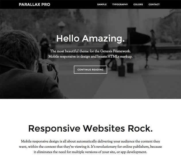 Parallax Pro Genesis Theme