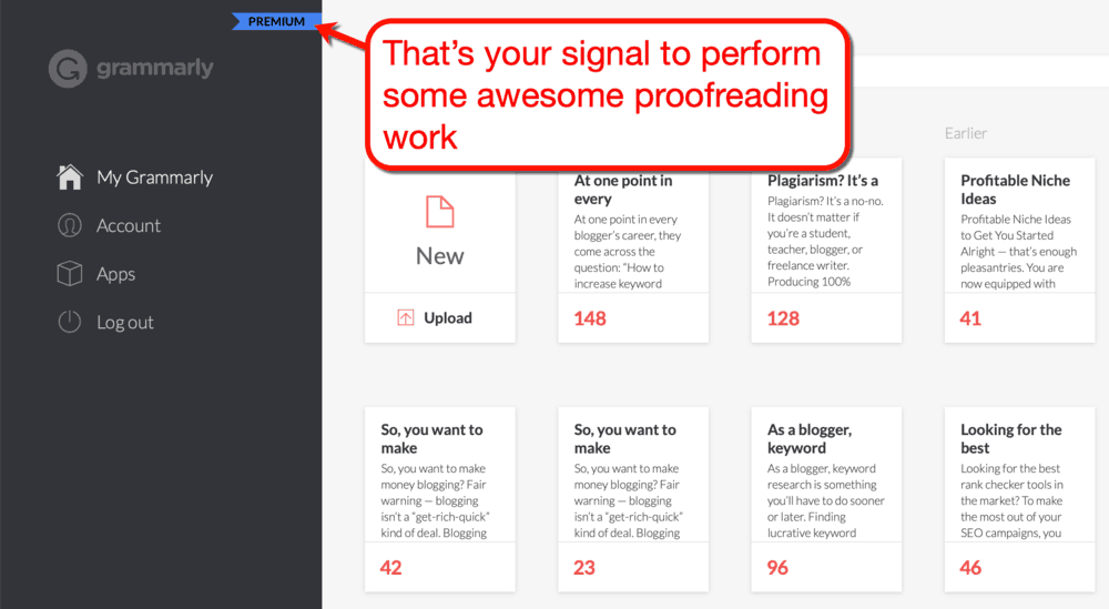 Grammarly Premium Ribbon