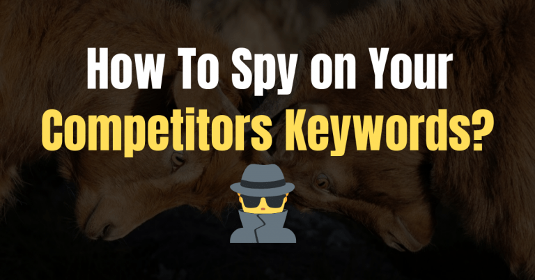How To Spy on Your Competitors Keywords [Find Low-Hanging Fruits]