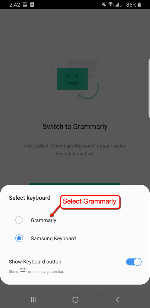 How to Switch to Grammarly Keyboard