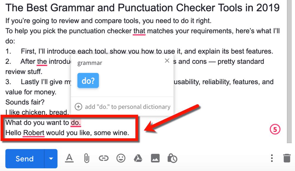 WhiteSmoke Detected Punctuation Errors