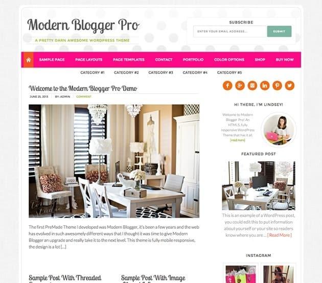 modern blogger wordpress template