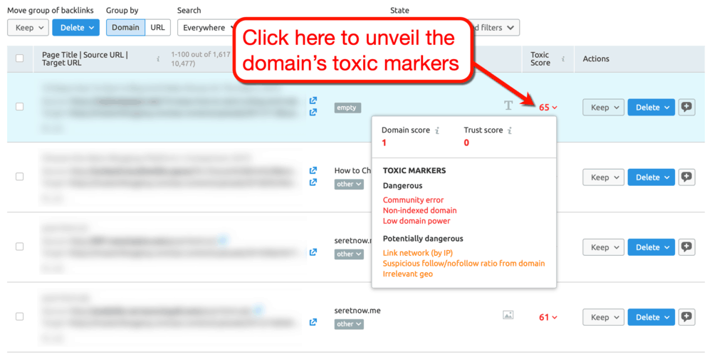 Toxic Domains Examples