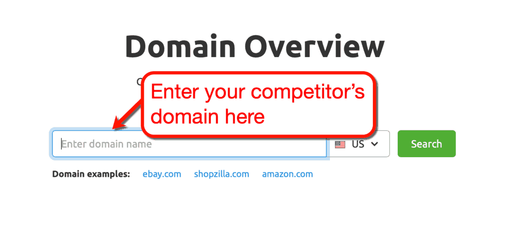 Competitor Research Domain Analytics