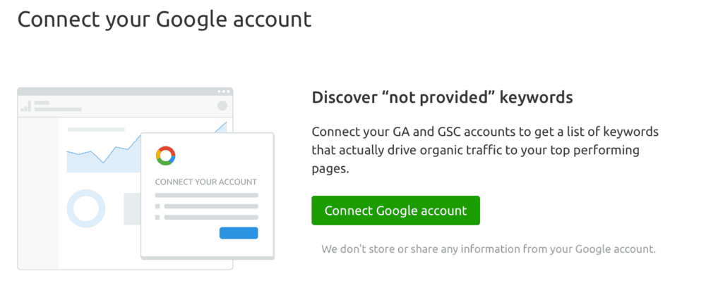 Connect your Google Account Page