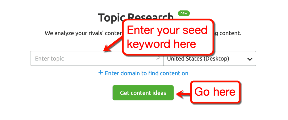 How to Use the SEMrush Topic Research Tool