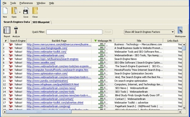 seo spyglass backlink checker