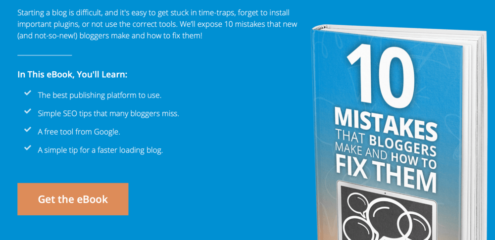 Free eBook 10 Mistakes that Bloggers Make