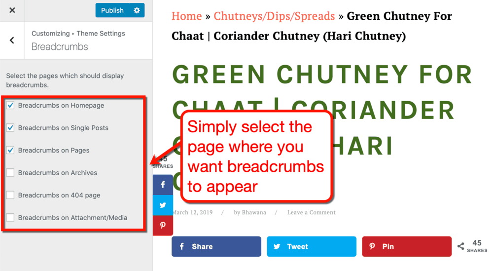 How to Control Site Breadcrumbs
