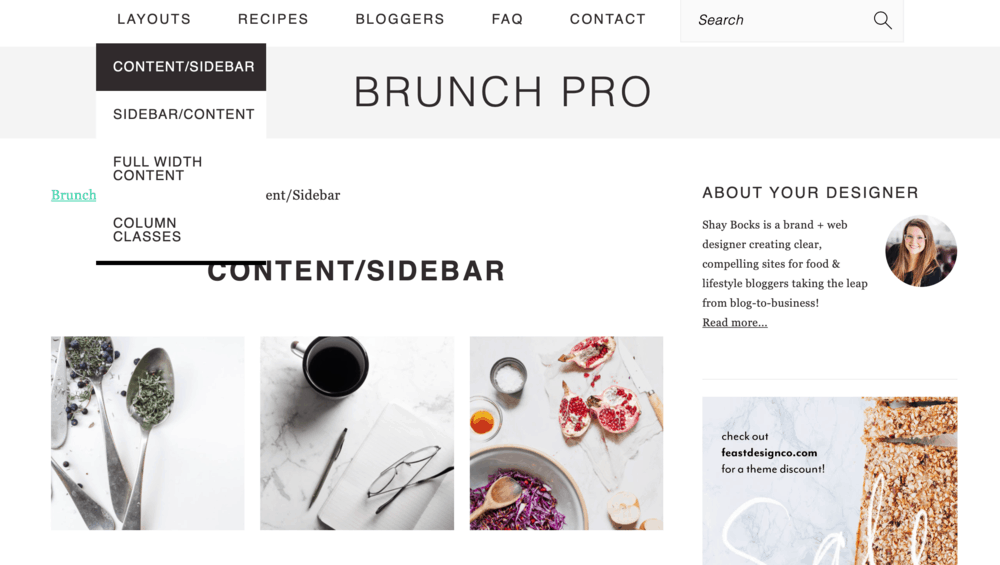 Brunch Pro Layouts