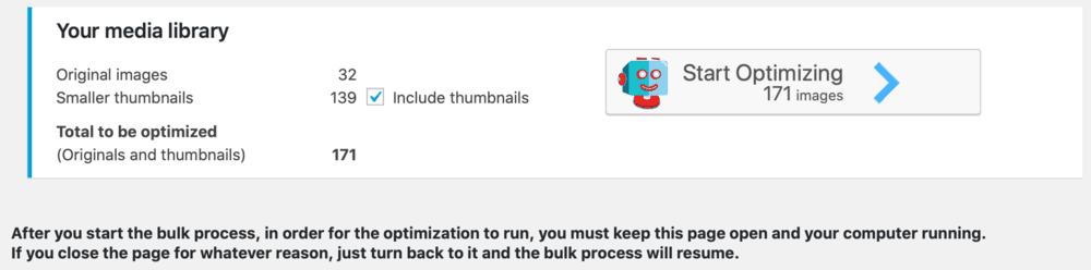 Bulk ShortPixel Tool
