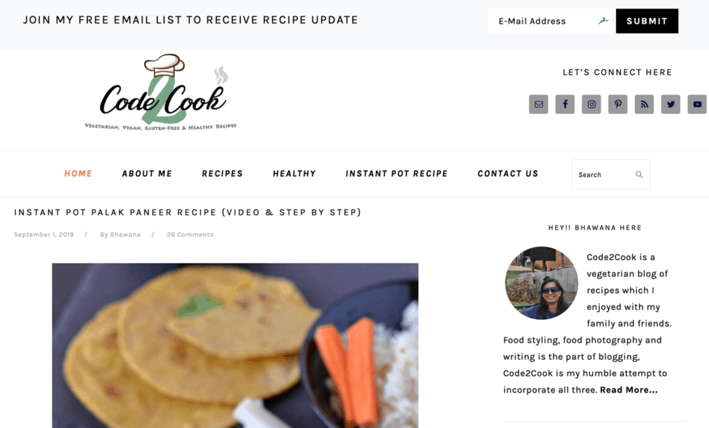 Code2Cook Homepage