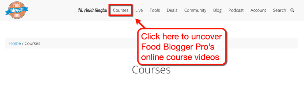Food Blogger Pro Courses