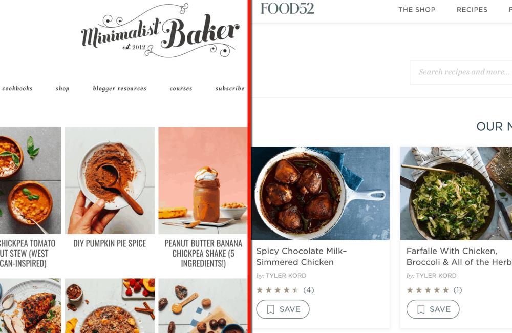 Minimalist Baker and Food52