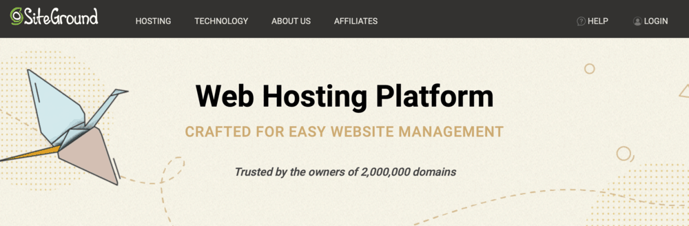 SiteGround Hosting Homepage