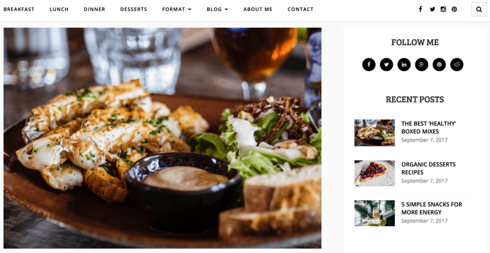Tastefully Theme Features
