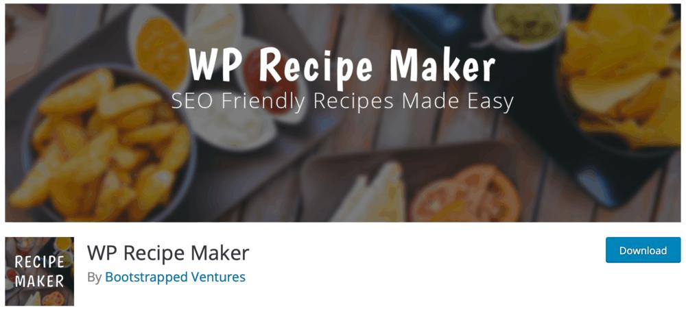 WP Recipe Maker Plugin Page