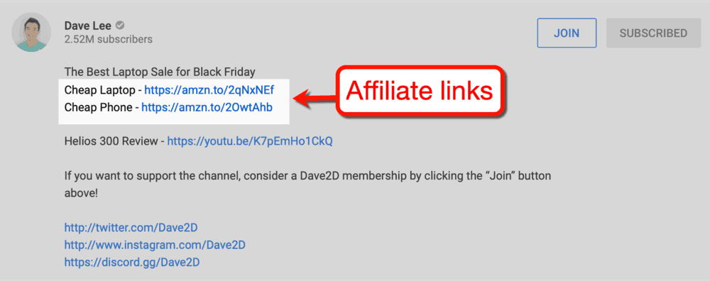 Dave Lee Affiliate Links