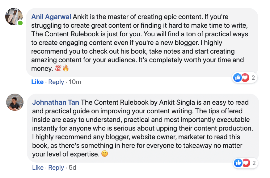 The Content Rulebook Testimonial