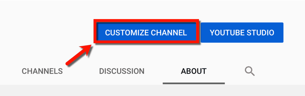 Customize Channel Button