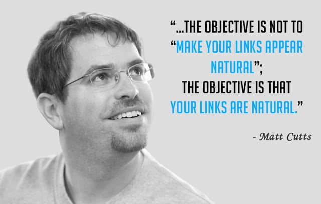 Matt Cutts Natural link building