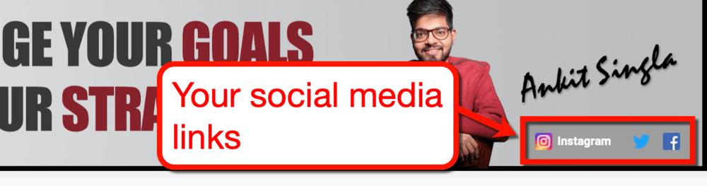 Banner Social Media Links