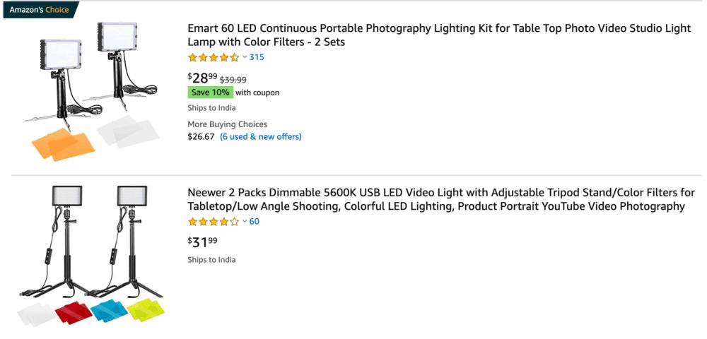 LED Lights for Video Creators