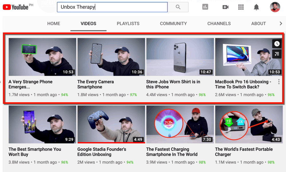 Unbox Therapy 10-Minute Videos