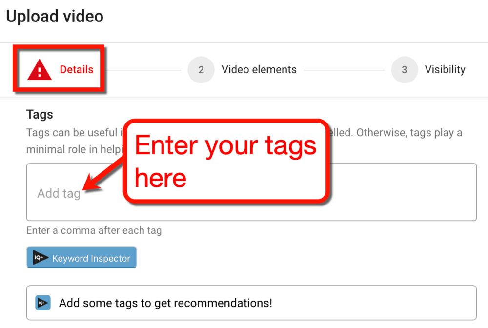 Upload Video SEO Tags