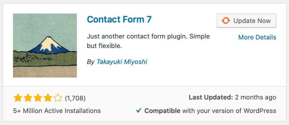 Contact Form 7 Plugin Page