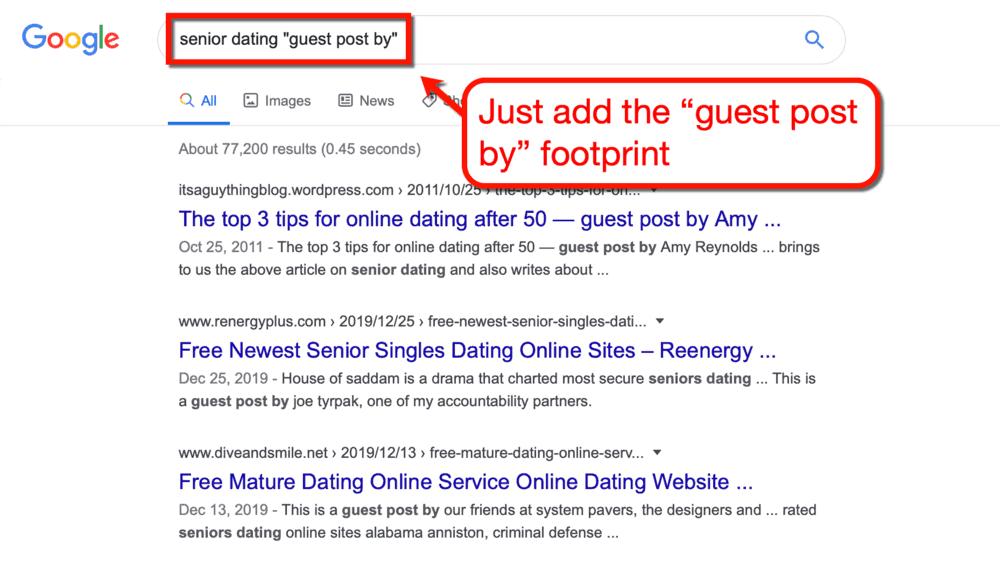 Google Guest Posting Footprint