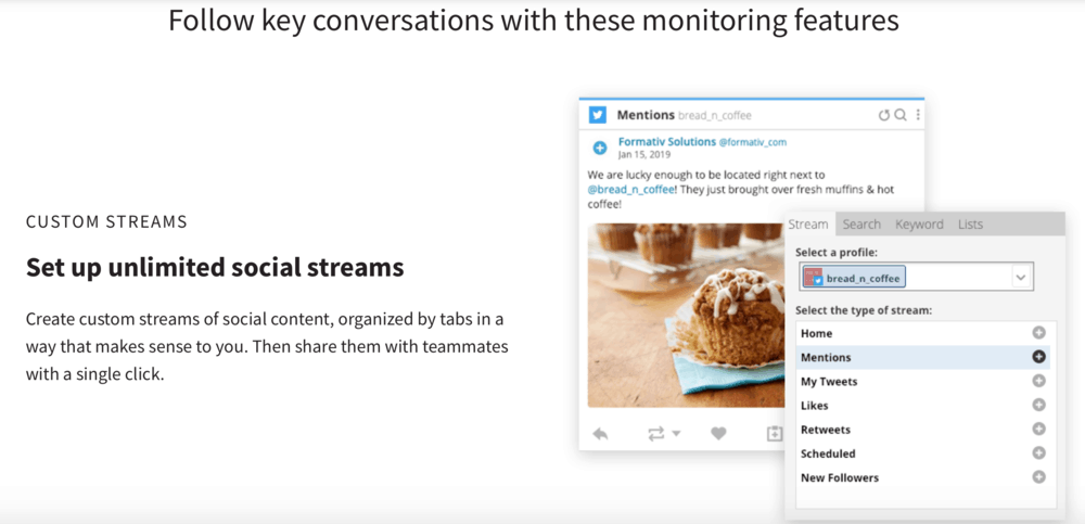 Hootsuite Social Media Monitoring Features