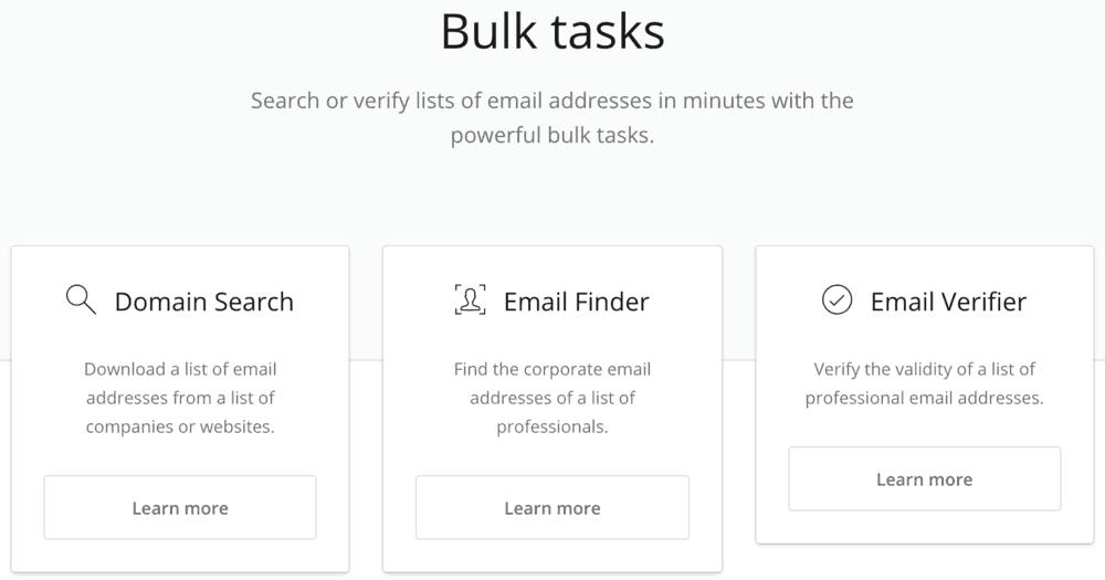 Hunter Bulk Tasks