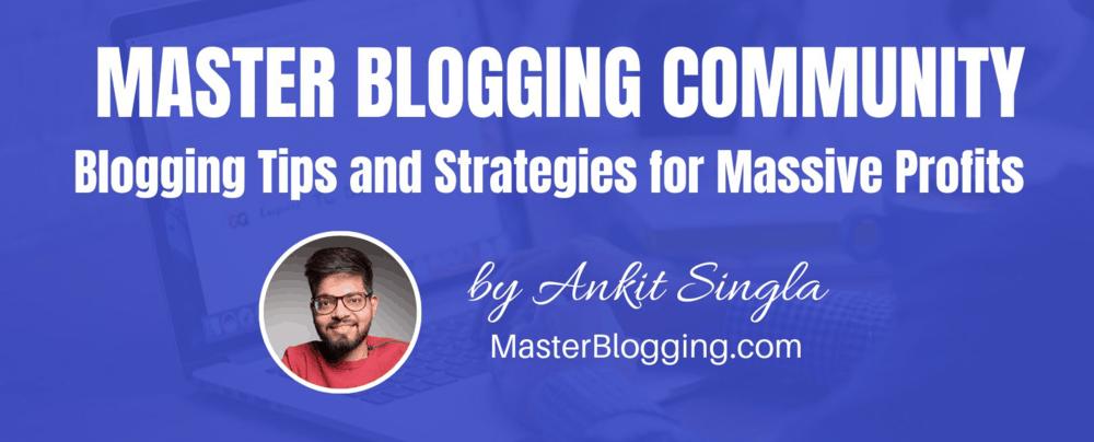 Master Blogging Cover Photo