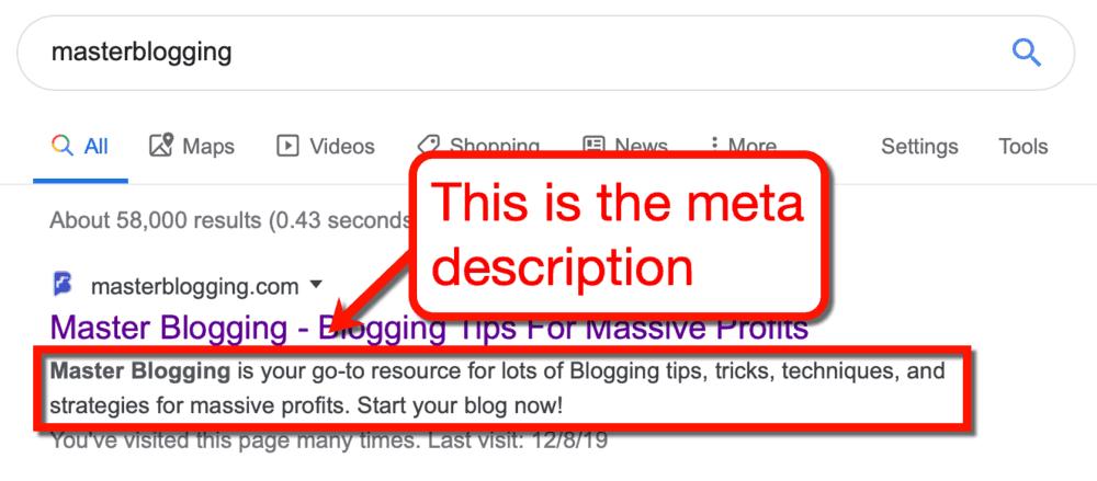Master Blogging Meta Description Sample