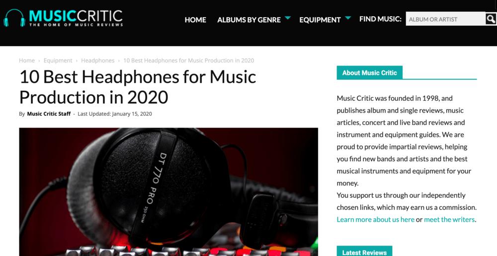 Music Critic Post