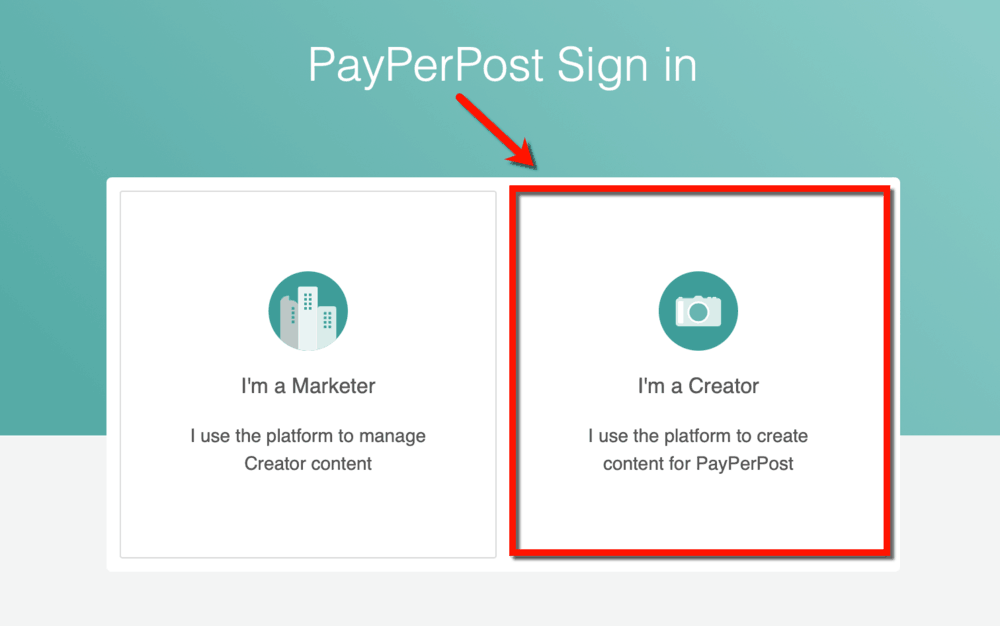 PayPerPost Create a Creator Account