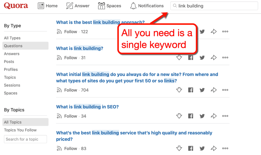 Quora Asking a Question