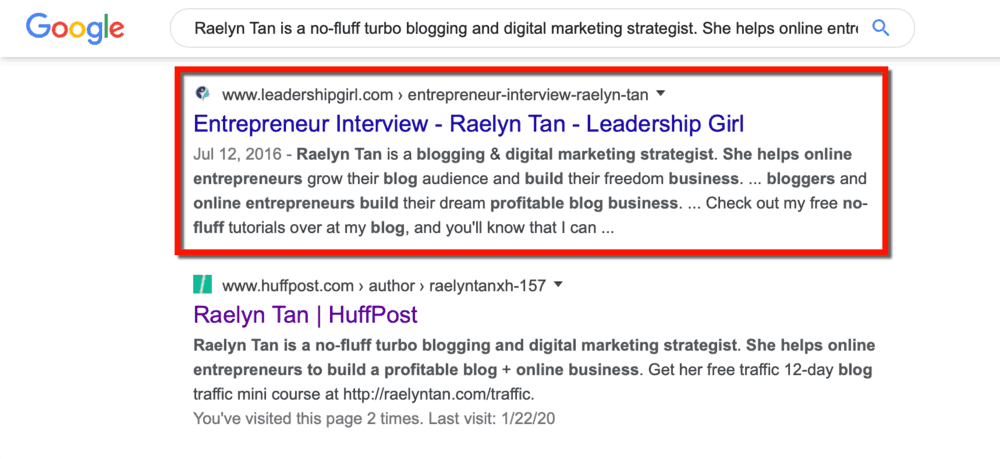 Raelyn Tan Bio in Other Sites
