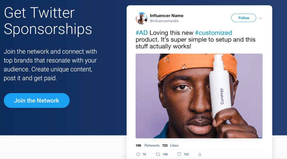 SponsoredTweets Homepage