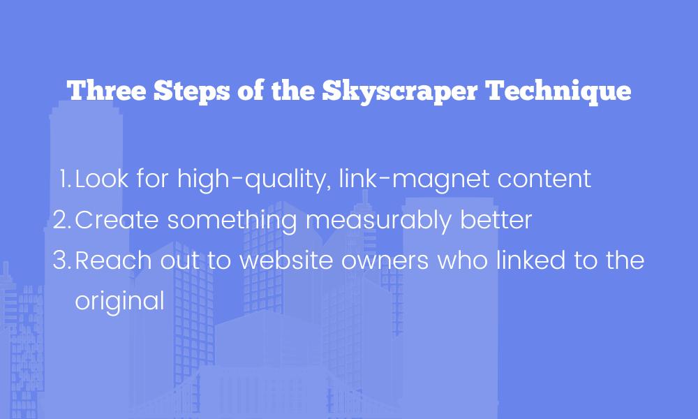 Three Steps of the Skyscraper Technique