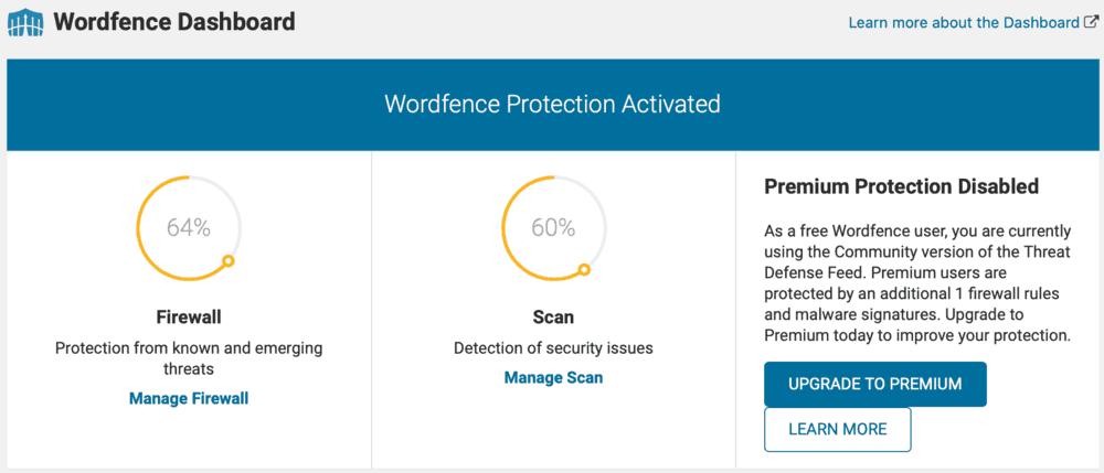 Wordfence Plugin Page