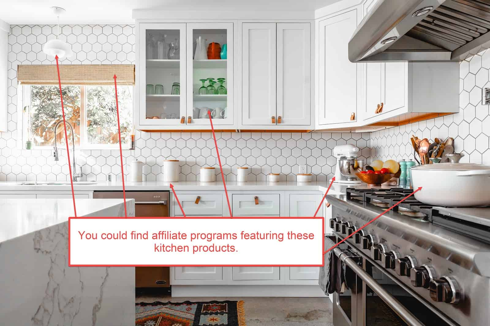 find affiliate products in kitchen