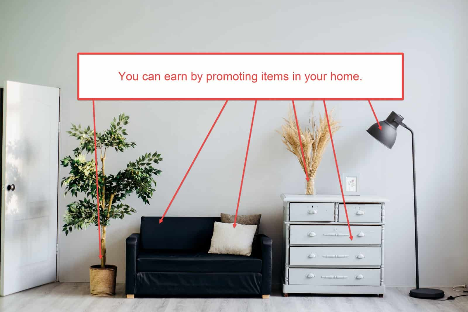find affiliate products - look around home - living room
