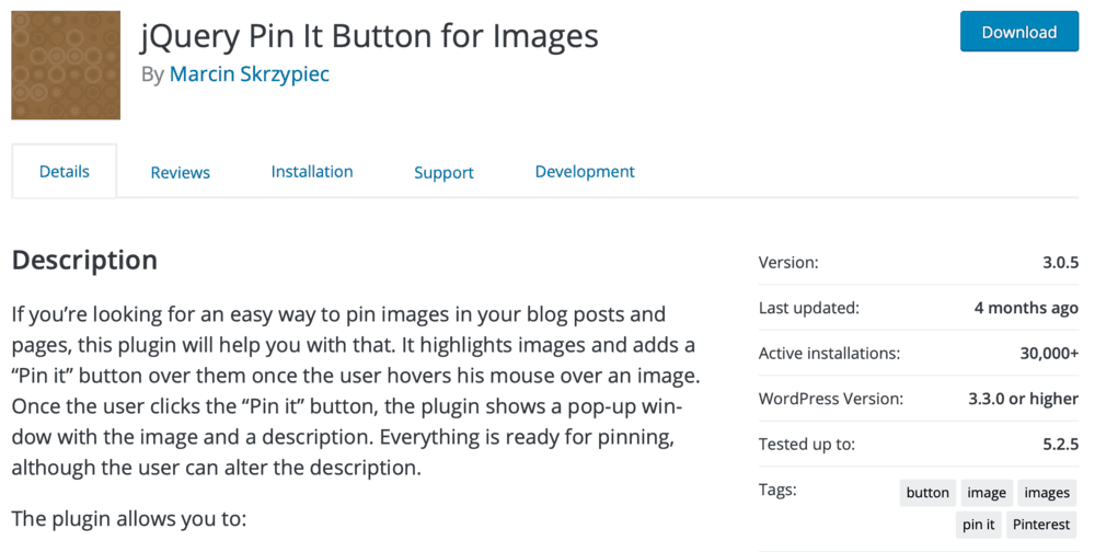 jQuery Pin It Buttons