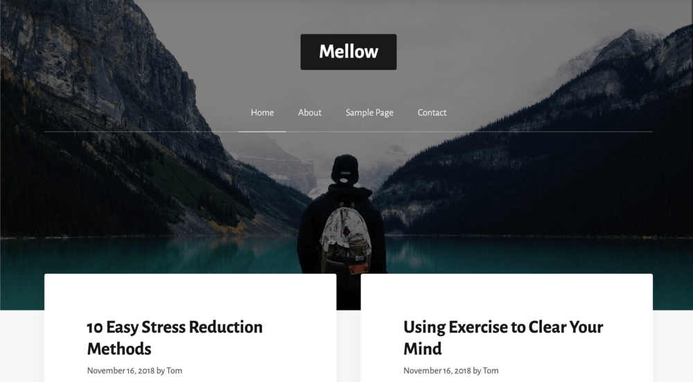 GeneratePress Website Mellow Demo